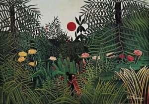 Rousseau Jungle Sunset