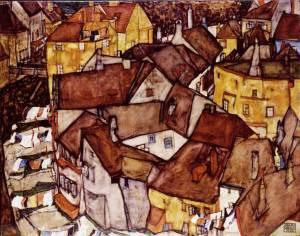 Egon Schiele  Cityscape