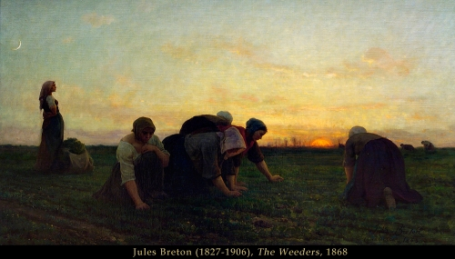 Jules Breton the weeders