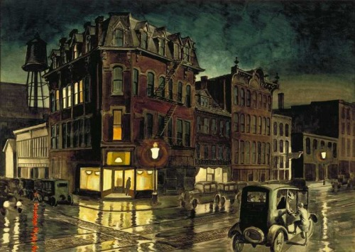 charles burchfield Rainy Night