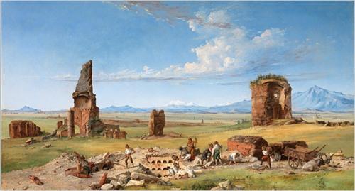 John Gadsby Chapman- Excavations on a Roman Campagna
