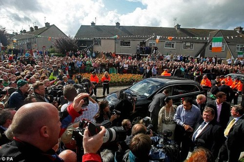 ali with crowd in ennis