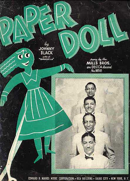 mills brothers paper doll