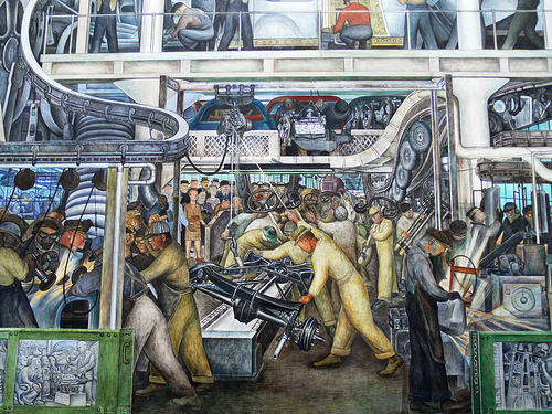 Diego rivera labor and industry pegada ambiental for Diego rivera mural san francisco art institute