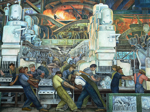 Diego rivera labor and industry pegada ambiental for Diego rivera mural
