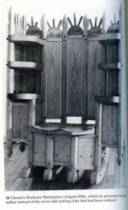 Chester Cornett Rocing Chair Bookcase