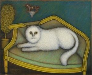 Morris Hirshfield Angora Cat