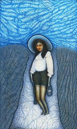 Morris Hirshfield Beach Girl