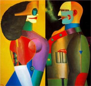 Richard Lindner The Couple