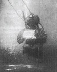 Louis Boutan in his Diving Suit