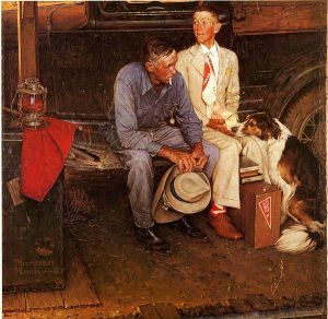 Norman Rockwell- Breaking Home Ties