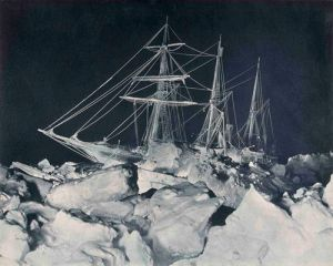 Frank Hurley- Endurance in the Antarctic Night 1915