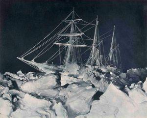 Frank Hurley- Endurance in the Antarctic Night 1915