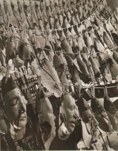 Carol Eyerman-  A Surreal Study of Latex Masks 1950