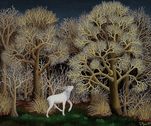 Ivan Generalic-  Deer in the Forest 1956