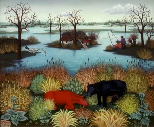 Ivan Generalic- River Landscape 1964