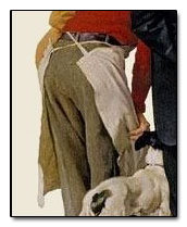 Norman Rockwell- People Reading Stock Exchange detail