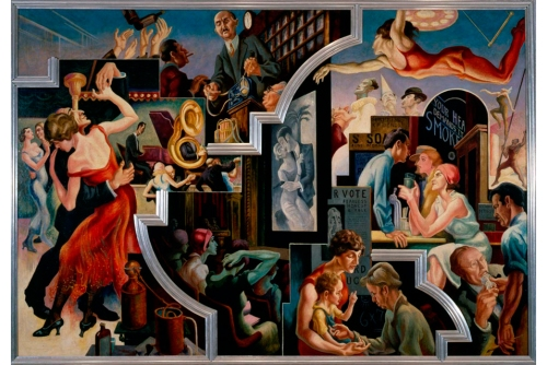 Thomas-Hart-Benton-City-Activities-with-Dancehall-from-America-Today