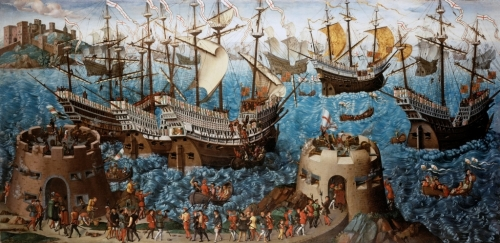 Embarkation_of_Henry_VIII at Dover- Basire Print