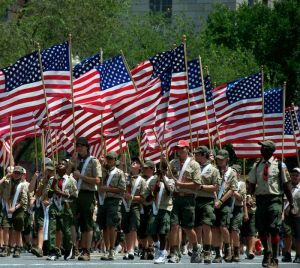 Fourth of July Parade of Scouts