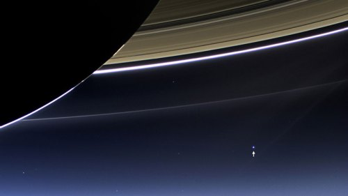 Earth Seen From Dark Side of Saturn NASA-JPL-Caltech