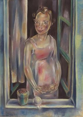 Maria Blanchard-Jeune Fille à la Fenêtre Ouverte (1924)