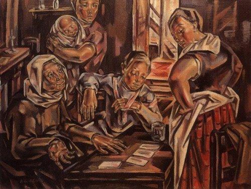 Maria Blanchard-La Echadora de Cartas