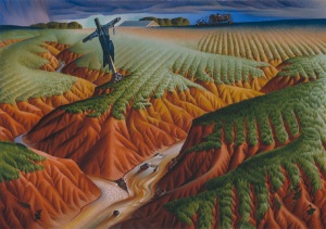 Alexander Hogue- The Crucified Land  1939