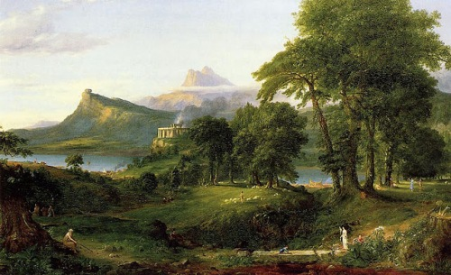 Cole, Course of Empire - Arcadia, Pastoral State 1834