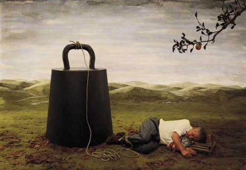 Teun Hocks Untitled-Man Sleeping with Weight