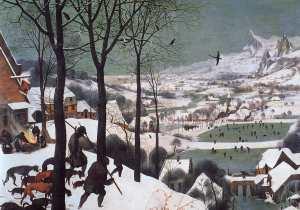 Bruegel, Pieter the Elder- Hunters in the Snow (Winter) 1565