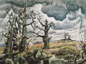 Charles Burchfield- An April Mood- Whitney Museum of American Art