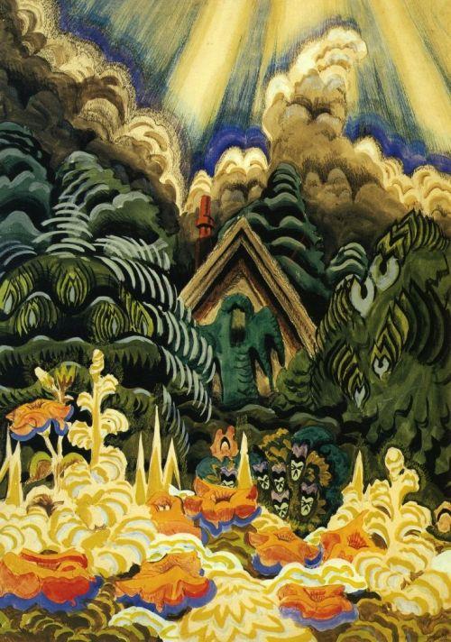 Charles Burchfield- Childhood's Garden