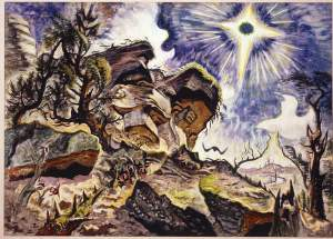 Charles Burchfield- Sun and Rocks- Albright-Know Art Gallery