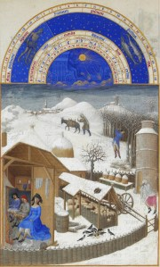 Limbourg Brothers- Tres Riches Heures du Duc de Berry February