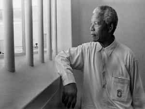Mandela at Robben Island-Photo: Jurgen Schadeberg