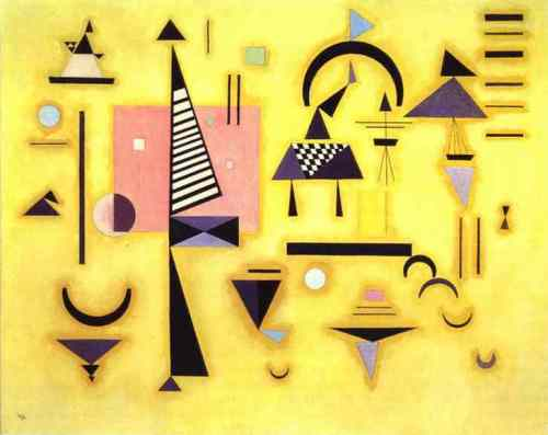 Wassily Kandinsky  - Decisive Pink  1932