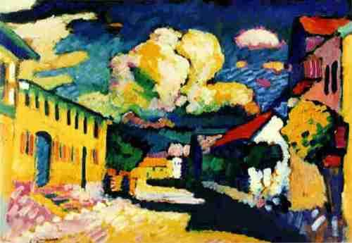 Wassily Kandinsky-  Murnau. A Village Street  1908