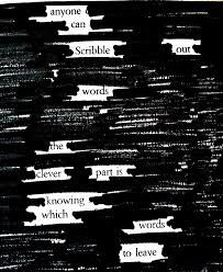 Austin Kleon Newspaper Blackout Poem