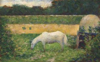 George Seurat -Paysage Avec Cheval