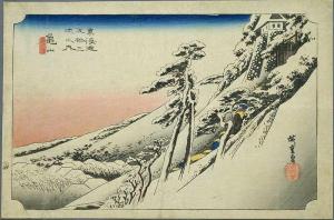 Hiroshige -Clear Winter Morning at Kameyama