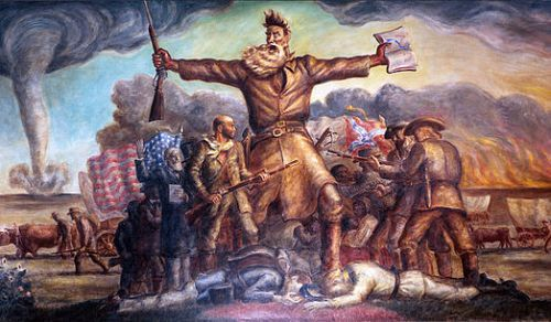 "John Steuart Curry-- ""Tragic Prelude"" Mural depicting John Brown in Kansas"