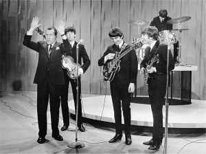 Beatles with Ed Sullivan
