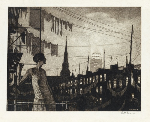 Martin Lewis- Glow of the City 1928
