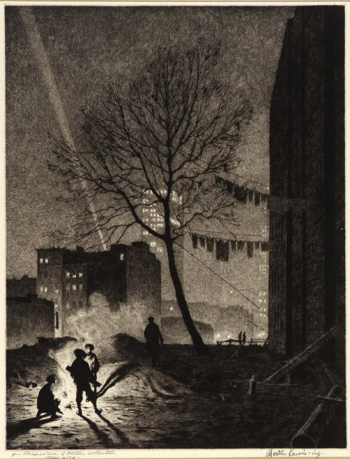 Martin Lewis-Tree Manhattan