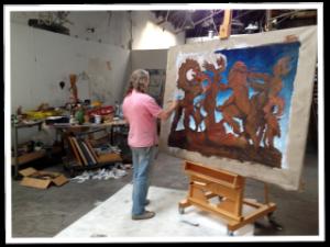 Beltracchi Working on a Fake Max Ernst (Vanity Fair)