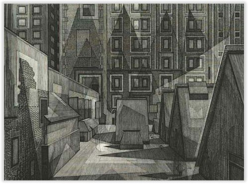 Armin Landeck Rooftop and Skylights 1969