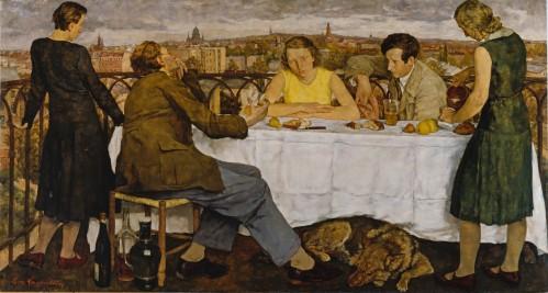 Lotte Laserstein- Evening Over Potsdam (Abend Uber Potsdam) 1930