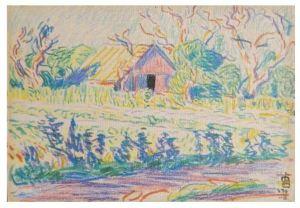 Oscar Bluemner Old Barn study