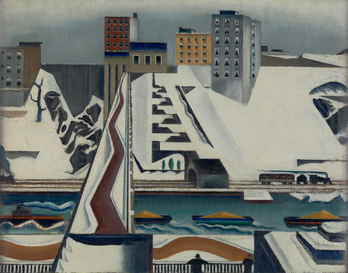 Preston Dickinson Harlem River  MOMA